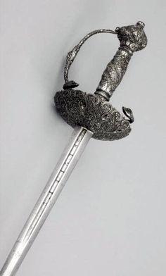 Rapier Alonso de Sahagun (active between: 1570 - 1599), Swordsmith Hilt- possibly The Netherlands; blade- Toledo, Spain or Germany c. 1635 - c. 1645 (hilt) c. 1570 - 1600 (blade) Steel.