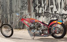 If you ever have the chance to see an original Denver's bike. - Page 89 - The Jockey Journal Board Custom Choppers, Custom Motorcycles, Cars And Motorcycles, Rainbow Bike, Old School Chopper, Hd Widescreen Wallpapers, Honda Cb750, Digger, The Originals
