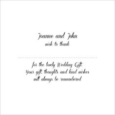 Thank You Wedding Gift Did Not Attend : Wedding Thank You Wording Photo Gallery of the Wedding Gift Thank ...