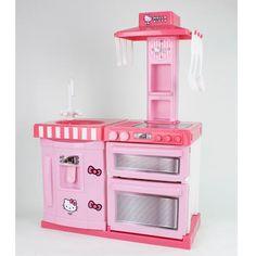 Hello Kitty Wooden Play Kitchen Set   Hello kitty   Pinterest ...