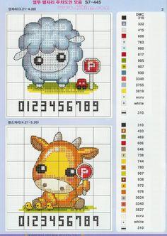 Tiny Cross Stitch, Cross Stitch For Kids, Cross Stitch Bookmarks, Cross Stitch Alphabet, Cross Stitch Animals, Cross Stitch Charts, Cross Stitch Designs, Cross Stitch Patterns, Cross Stitching