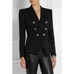 Balmain Double-breasted piqué blazer (£1,305) via Polyvore