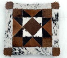 Piel de vaca cuero fundas de colchón alfombra por eishalcollection