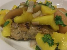 crock pot pork with pears and mago salsa (can be made in the afternoon and still ready in time for dinner)