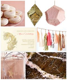 Pink and Gold Party by finestationery, via Flickr