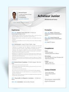 Modèle CV original Acheteur Junior Cv Ingenieur, Cv Digital, Word Cv, Types Of Resumes, You Working, You Must, Catalog, Junior, Bp Coiffure