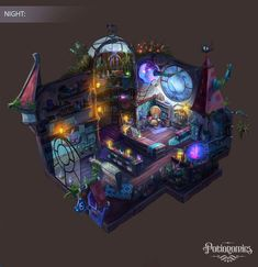 Voracious Games Potionomics Potion Shop Night by atomhawk on DeviantArt