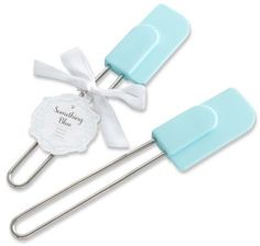 Something Blue Silicon Spatula Favor theknot.com