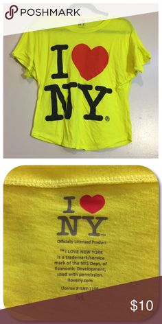 New York Blouse Neon yellow I Love New York blouse. Women's size medium. Tops Blouses