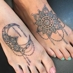 The Sun and Moon Mandala Bff Tattoos