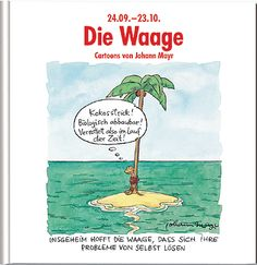 #Waage #Sternzeichenbuch mit lustigen Cartoons und Texten