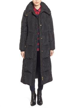Ellen Tracy Techno Down Maxi Coat available at #Nordstrom