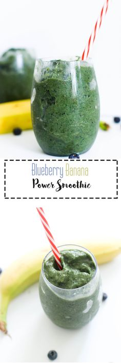 This Blueberry Banana Power Smoothie is protein packed, full of nutrients, and takes five minutes to make! It's made with collagen, minimal ingredients, and makes for a great quick meal. Power Smoothie, Juice Smoothie, Smoothie Bowl, Smoothie Recipes, Drink Recipes, Low Calorie Recipes, Healthy Recipes, Healthy Meals, Healthy Eating