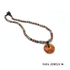 AMBER JEWELLERY FOR DADS! Did you know we sell baby proof jewellery for Dads too! This fabulous necklace is made using authentic baltic amber. The whole Papa Jewels collection is here. http://mamajewels.co.uk/product-category/papa-jewels/?utm_content=buffer09bd7&utm_medium=social&utm_source=pinterest.com&utm_campaign=buffer