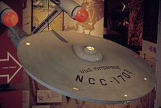 TOS Enterprise, 1979, Smithsonian Air and Space Museum, Washington, top view