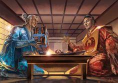 Respect by Bertuccio on DeviantArt Fantasy Landscape, Fantasy Art, Character Art, Character Design, The Great Fire, L5r, Samurai Art, Detailed Image, Martial Arts