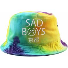 Sad Boys Tie Dye Bucket Hat NEW (402.525 IDR) ❤ liked on Polyvore featuring  hats 6f0d7b126edc
