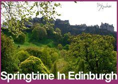 Beautiful view of the Edinburgh castle from Princes Street Gardens - Edinburgh, Scotland -