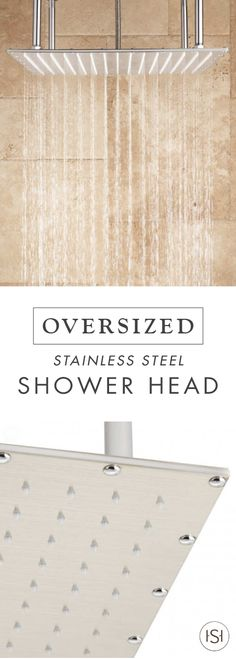 Enjoy spa-like relaxation every day with this Oversized Square Stainless Steel Shower Head. With its stainless steel finish, this piece will complement the look of your dream bathroom beautifully.