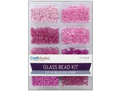 Multicraft Glass Bead Kit Mix Blush