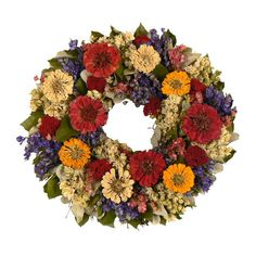 Faux Garden Bright Wreath - Memorial or 4th of July