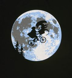 Alien in Bike Basket ala E.T. via Tribe of E. Click on the image to see more!