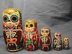 Image result for nesting dolls day of the dead mexican