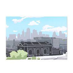 Kansas City Union Station Postcard