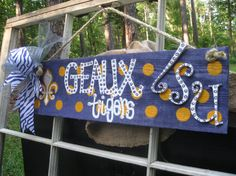 HOLIDAY SALE LSU Tigers Barn Wood Sign by SouthernFCreations, $20.00