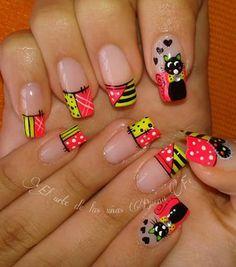 # Juvenile Manicure Nail Art Good Faith N … - Fingernägel Nail Art Designs Videos, Nail Designs, Nail Manicure, Toe Nails, Cute Pedicures, Natural Acrylic Nails, Kawaii Nails, Flower Nail Art, Summer Nails