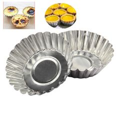 BEST Price 10pcs/set Cake Mold Egg Tart Mould Aluminum Cupcake Cake Cookie Mold Lined Mould Tin Baking Tool ping