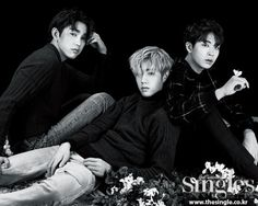 Junior, Mark and Youngjae in Singles Magazine