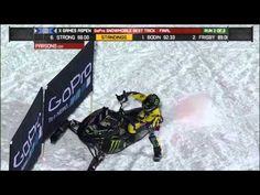 Joe Parsons scores a 91.66 in Snowmobile Best Trick final at X Games Aspen 2013.