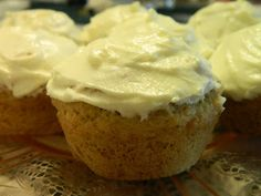 Ginny's Low Carb Kitchen: Lemon Muffins with Lemon Frosting