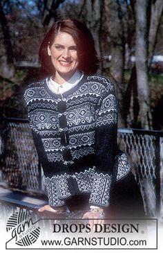 DROPS trøje i Camelia med nordisk mønster i Cotton Viscose og Silke-Tweed. Halstørklæde i Puddel. ~ DROPS Design