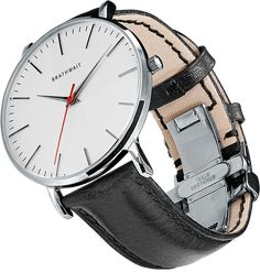 Schlanke Armbanduhr minimalistisches Design - Brathwait - Something Like This - Technologie Patek Philippe, Skeleton Watches, Expensive Watches, Affordable Watches, Luxury Watches For Men, Cool Watches, Wrist Watches, Men's Watches, Men Watches
