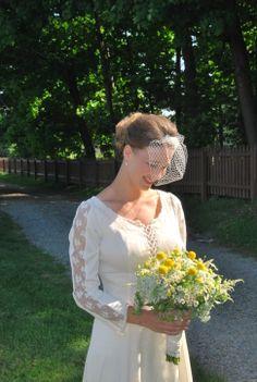 Feverfew flower bouquet from Burton Floral