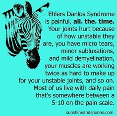 It's June, so why am I still talking about Ehlers Danlos Syndrome and awareness? Because unfortunately I can't turn EDS off when the… Syndrome Ehlers Danlos, Ehlers Danlos Hypermobility, Chronic Fatigue, Chronic Illness, Chronic Pain, Chiari Malformation, Migraine, Pain Relief, Inspiration