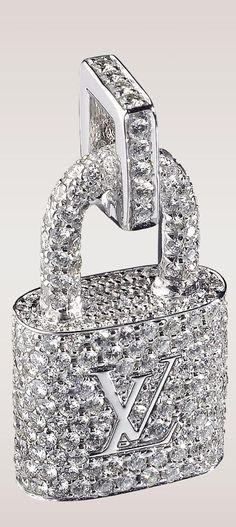 Louis Vuitton Diamond Padlock Pendant