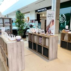 Essential Oil Pop Up Shop #boothdesign #booth #market #shopping #christmas #christmasgifts Booth Design, Essential Oil Blends, Apothecary, Pop Up, Table Decorations, Christmas, Furniture, Shopping, Home Decor