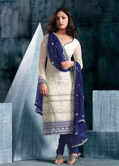 Churidar-Blue-White-Lace-Salwar-Kameez.jpg 785×1,100 pixels