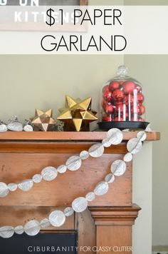 DIY Paper Garland from MichaelsMakers Classy Clutter