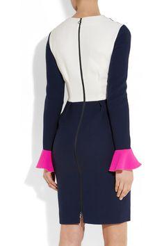 Roksanda Ilincic Izumi color-block wool-crepe dress NET-A-PORTER.COM