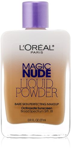 L'Oreal Paris Magic Nude Liquid Powder Bare Skin Perfecting Makeup SPF 18, Buff Beige, 0.91 Ounces -- Hurry! Check out this great product : Makeup