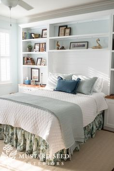 Kim's coastal bedroom | installing the built-ins - Miss Mustard Seed