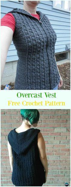 Crochet Overcast Vest Free Pattern - #Crochet; Women #Vest; Free Patterns