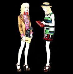 2016 S/S #LANVIN Resort #lanvinresort #fashion #fashionillustration #fashiondrawing #fashionsketch #readytowear #fashiondesign