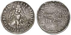 Heinrich Julius, 1589-1613, thaler, 1595, Goslar, so called Rebellentaler, Aversum: wild male treading before dog, P. P. C. HENRI. IV. LI. D...