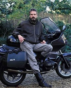 SHOW US YOUR MOTORCYCLES …. GENTLEMEN | ZippyBites...the lovely Jeremy Irons...heart flutters...
