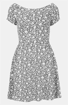 Topshop Floral Jacquard Dress available at #Nordstrom